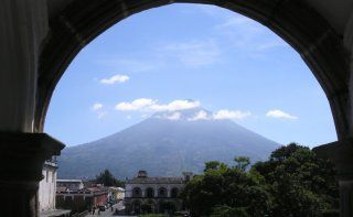 View of Agua volcano from 5 Ave