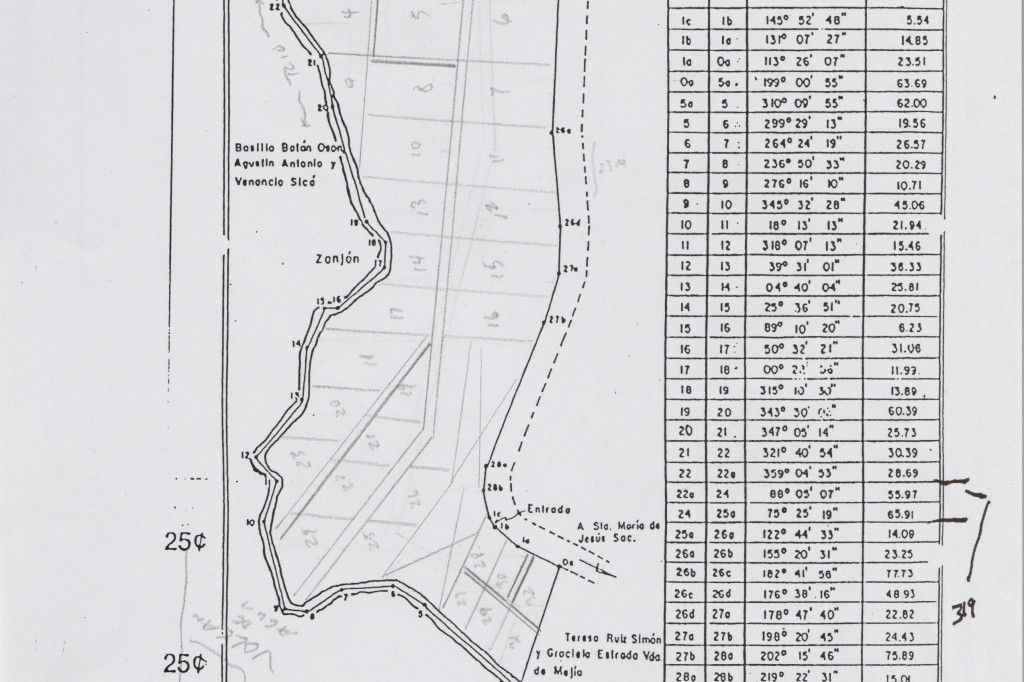 Plano del terreno de Sta Maria de Jesus, SAC 6.72 mz (1)